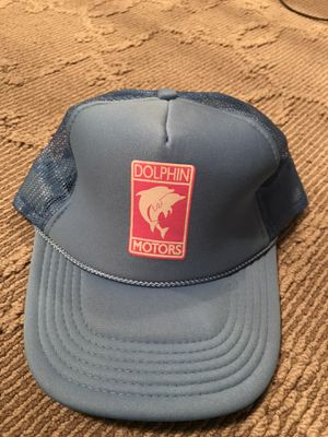 Pink Dolphin Dolphin Motors Trucker Hat in light blue for Sale in Tacoma, WA