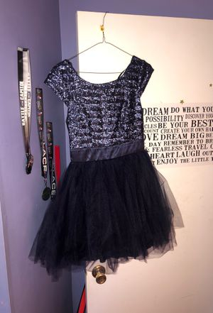 Navy blue sequined homecoming dress for Sale in Severn, MD