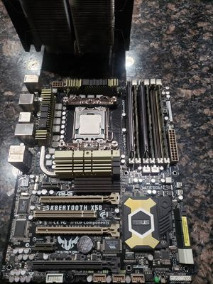 Sabertooth X58 + X5660 + Ram + Cooler for Sale in Snohomish, WA