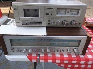 Technics receiver, Panasonic cassette deck for Sale in Peoria, AZ