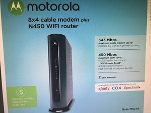 Motorola Cable Modem plus N450 Router for Sale in Gahanna, OH