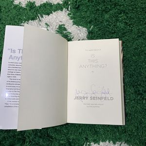 "JERRY SEINFELD Signed/Autographed 1st Edition ""Is This Anything"" Book for Sale in Miami, FL"