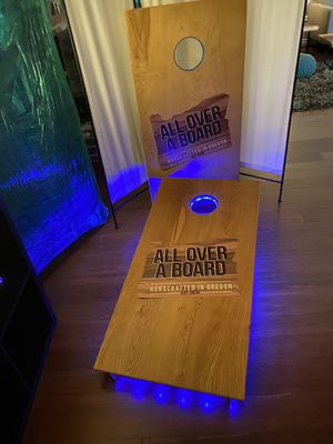 Plain or completely custom cornhole board game. for Sale in Aloha, OR