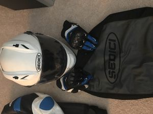 Motorcycle Helmet and Gloves for Sale in Macon, GA