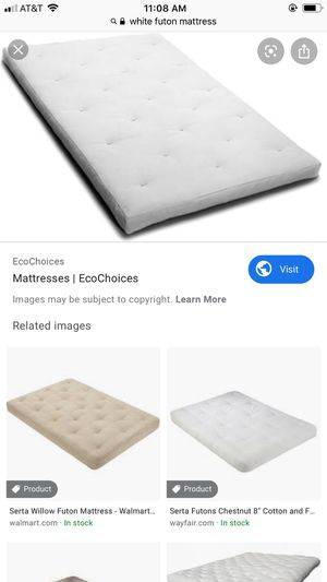 White futon mattress, like new for Sale in Apex, NC