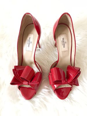 Valentino Garavani Red Bow Pumps 36 for Sale, used for sale  Brooklyn, NY