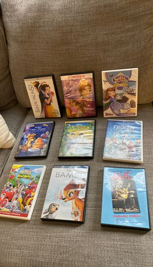 Disney DVD's- kids - frozen, Bambi, Mickey Mouse, Sofia the first for Sale in STEVENSON RNH, CA