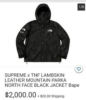 The Northface Supreme Leather jacket XL for Sale in Westminster, CA