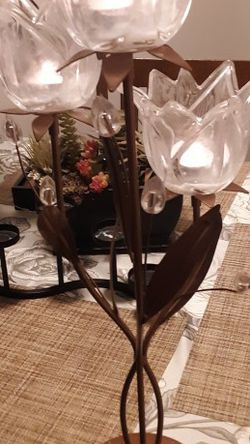 Three Tier Glass Candle Holder for Sale in Merrimack,  NH
