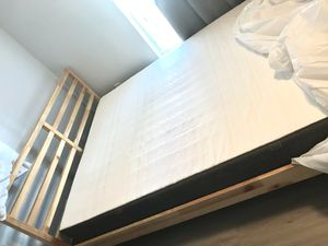Like New IKEA Mattress in Mattress Bag - FREE BOXSPRING AND METAL FRAME INCLUDED for Sale in Pensacola, FL