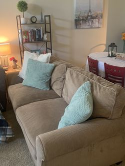 Comfy Beige Couch - Great Condition for Sale in Lake Oswego,  OR