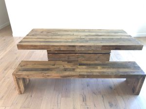 "Living Spaces 40""X90"" dining room table/bench for Sale in Phoenix, AZ"