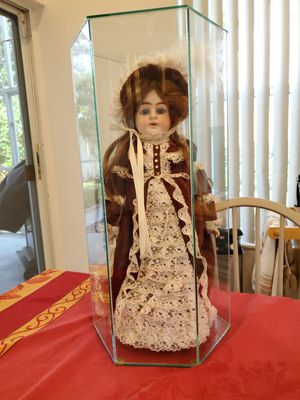 Collectible Doll in glass case for Sale in Boynton Beach, FL