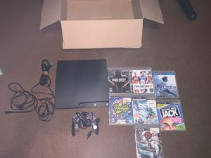 PlayStation 3 with games and controller good condition for Sale in Lynwood, CA
