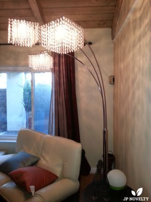 NEW-Modern looks acrylic 2 arch floor lamp w/ sturdy stainless steel body for Sale in Fullerton, CA