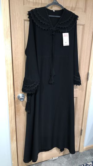 Used, Abaya Plus Size XL XXL 2XL Black Islamic Clothing Muslim Maxi Long sleeves Abayah for Sale for sale  Burbank, IL
