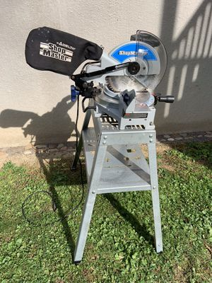 """10"""" Delta miter saw on steel stand for Sale in Sunbury, PA"""