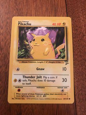 Pikachu Base Set Two Original Pokemon Card for Sale in Greensboro, NC