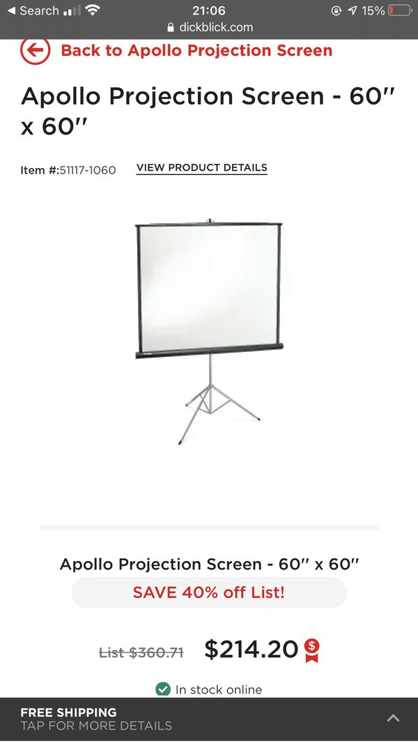 Apollo Projection Screen - foldable!