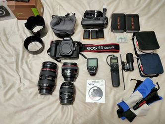 Canon 5D Mark IV, 50mm F1.2L, 24-70mm 2.8L, Free Lens. for Sale in Euless,  TX