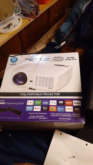 Onn Portable projector w/ roku for Sale in Roy, WA