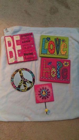 Room Wall Decor teen girl peace love for Sale in Bartow, FL