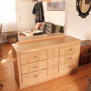 Mcm 9 drawer dresser & mirror for Sale in Portland, OR