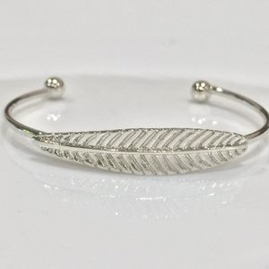 Sterling silver plated cuff leaf bangle bracelet for Sale in Silver Spring, MD