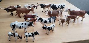 (16) pcs Cattle Cow Long Horn Calf Schleich / Terra by Battat / Breyer Reeves for Sale in Fresno, CA