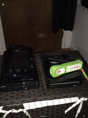Nintendo Wii and Wii U. One Wii control included, wires included, and 2 Wii U games included. for Sale in Brooklyn, NY
