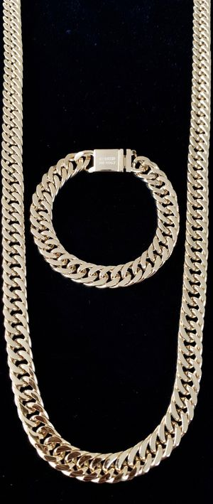DOUBLE CUBAN LINK CHAIN 18K GOLD MADE IN ITALY for Sale in North Bay Village, FL