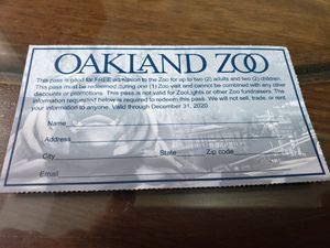 Oakland Zoo one day pass family of 4 for Sale in San Leandro, CA