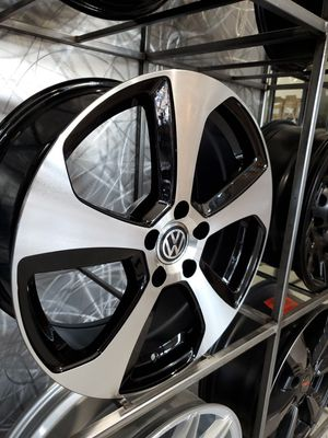"17"" volkswagen wheels 5x112 fits gold gti Jetta gli cc passat Audi rim wheel tire shop for Sale in Tempe, AZ"