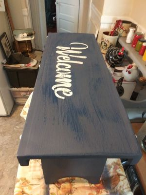 Welcome bench for Sale in Palmer, MA