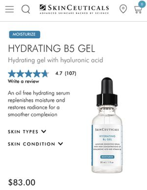 SKINCEUTICALS HYDRATING B5 HYALURONIC ACID GEL MOISTURIZER 30ML for Sale in Fullerton, CA