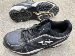 Baseball turf shoes in good condition ready to use size 8 1/2 equipment bats gloves Easton cleats for Sale in Los Angeles, CA