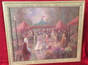Nice Victorian European Print On Canvas With Gorgeous Frame for Sale in Bauxite, AR