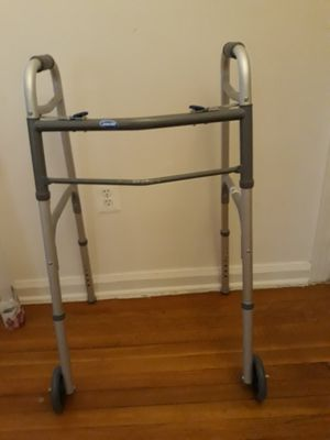 Two Button Folding Walker with Wheels for Sale in Falls Church, VA