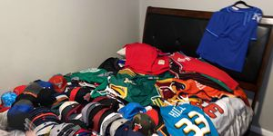 Hats jerseys and baseball jersey and hockey jerseys basketball also for Sale in Dearborn, MI