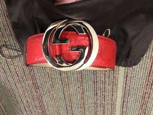 Gucci Red Signature Belt for Sale in Boston, MA