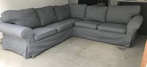 IKEA Gray Sectional W/Extra White Slipcover for Sale in Chandler, AZ