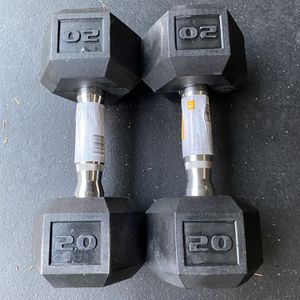 New 20 Lbs Rubber Coated Hex Shaped Dumbbells for Sale in Lynnwood, WA
