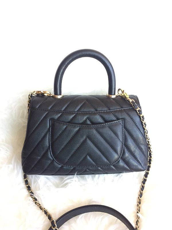 Chanel Caviar Leather Crossbody Bag Purse Handbag