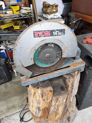 Chop saw ryobi 14in for Sale in Canoga Park, CA