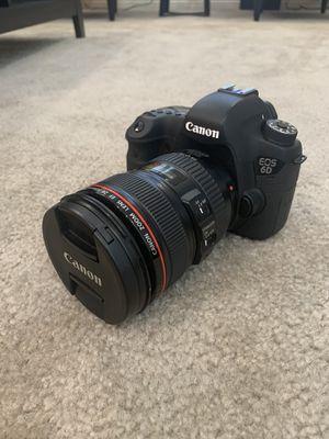 Canon EOS 6D Full Frame Camera + 24-105 f/4L IS USM Lens Kit for Sale in Las Vegas, NV