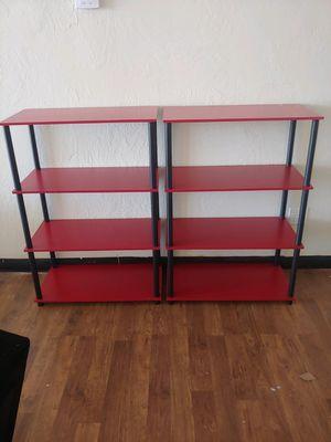 Red and black bookshelves or knick knack shelves $14.99 each only two left for Sale in Phoenix, AZ