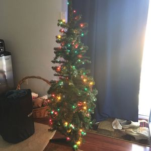 Christmas tree with lights for Sale in Herndon, VA
