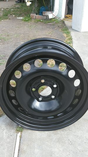 "Stock 16"" black steel rims pair for Sale in City of Industry, CA"