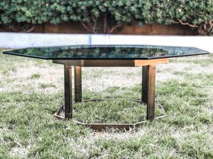 Mid century Modern Brass Octagon table for Sale in Glendale, AZ
