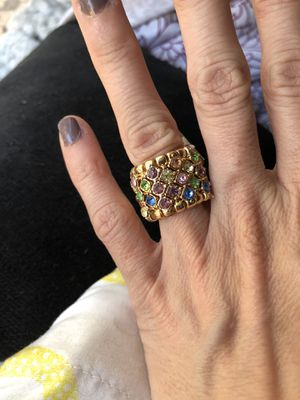 Multi colored crystal ring for Sale in Los Angeles, CA
